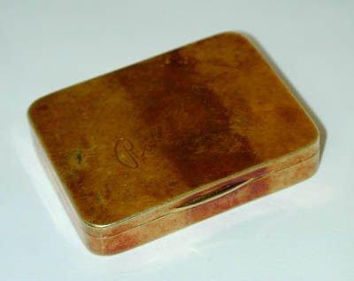 8536: Antique 14K Gold Pill Box