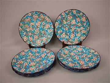 135: Majolica French Floral Plates