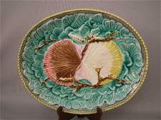 246 Majolica Twin Shells Platter