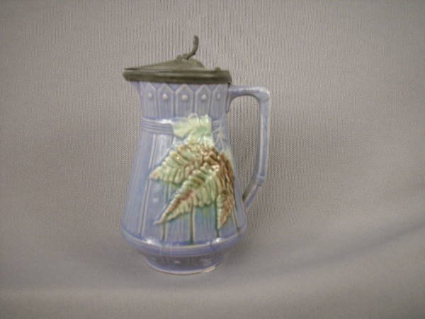 505: Majolica Syrup Pitcher
