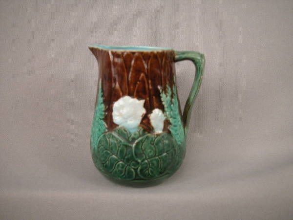 506: Majolica Holdcroft Water Lily Creamer