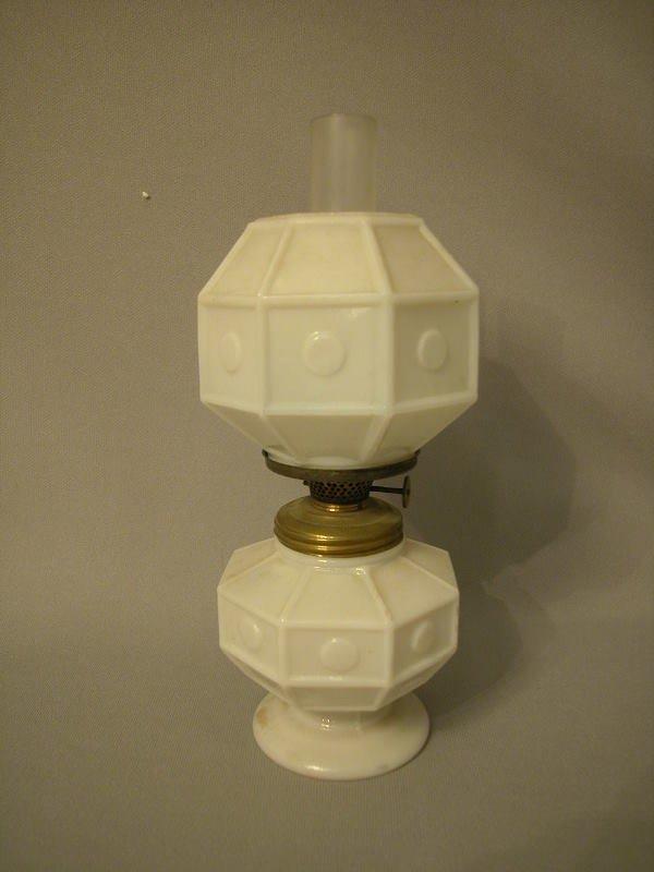 9: Antique Miniature Oil Lamp The Semprini Collection