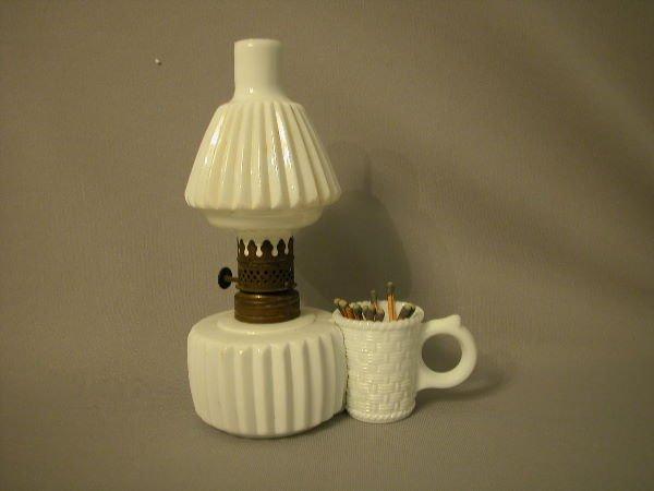 10: Antique Miniature Oil Lamp The Semprini Collection