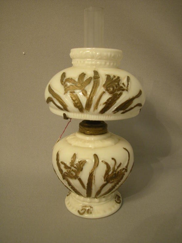 11: Antique Miniature Oil Lamp The Semprini Collection