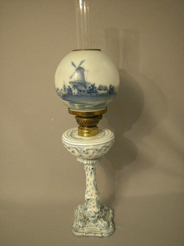 14: Antique Miniature Oil Lamp The Semprini Collection