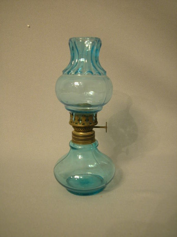 16: Antique Miniature Oil Lamp The Semprini Collection