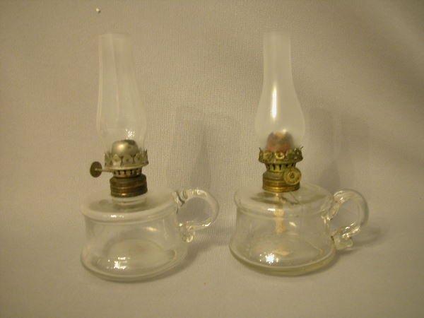 17: Antique Miniature Oil Lamp The Semprini Collection