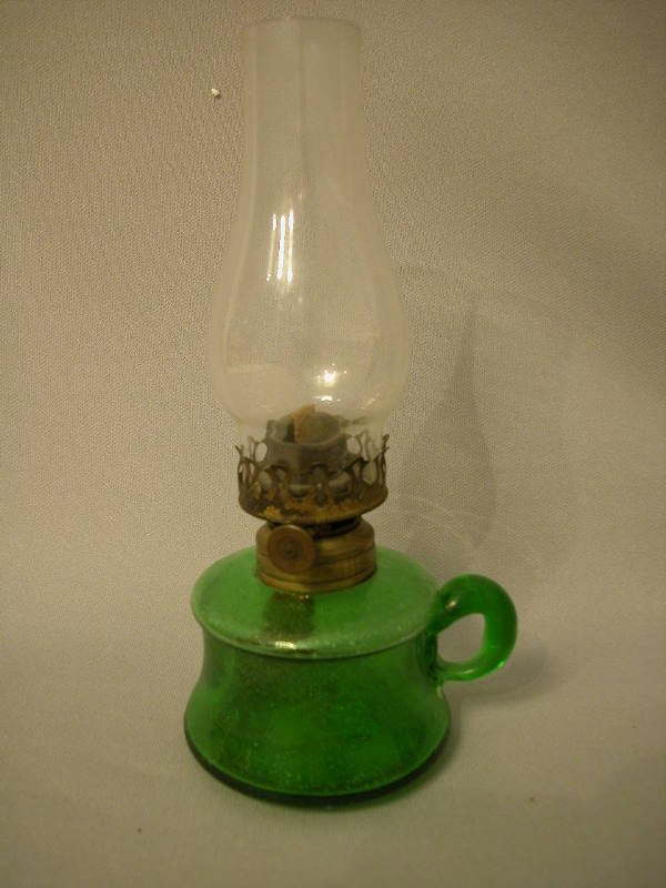 19: Antique Miniature Oil Lamp The Semprini Collection