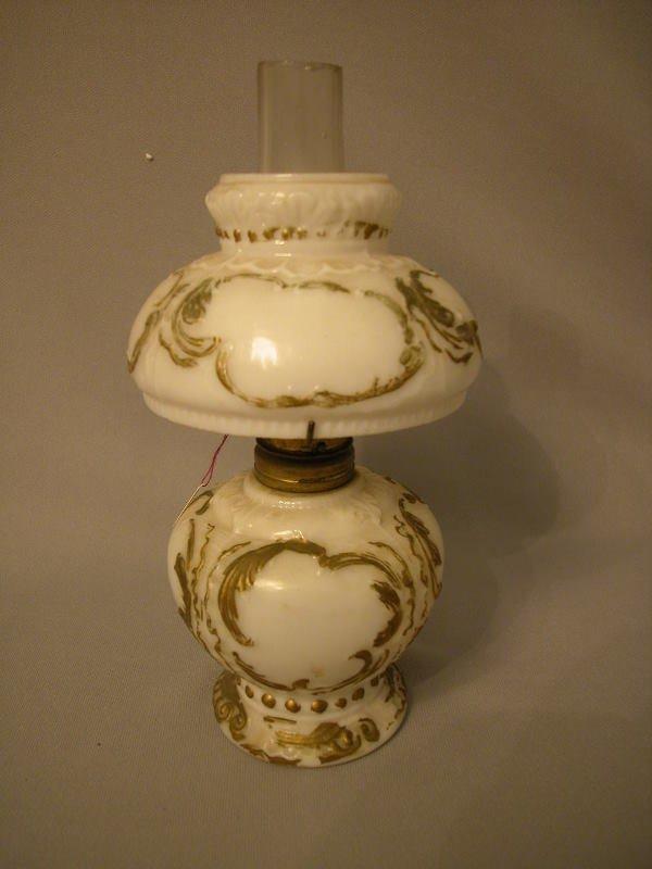 24: Antique Miniature Oil Lamp The Semprini Collection