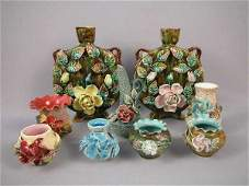 210: Majolica Auctions Lot 9 Pitchers