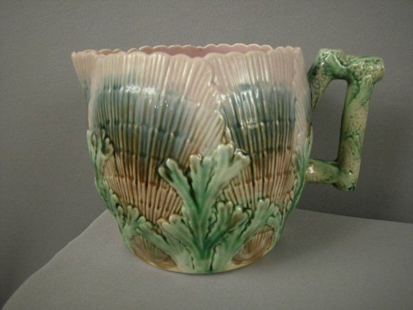 """Majolica ETRUSCAN shell and seaweed 5 1/2"""" pitcher"""
