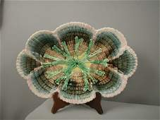 """740: Majolica ETRUSCAN shell and seaweed 14"""" platter wi"""