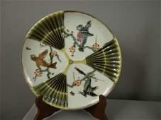 985 Majolica WEDGWOOD bird and fan 9 plate good colo