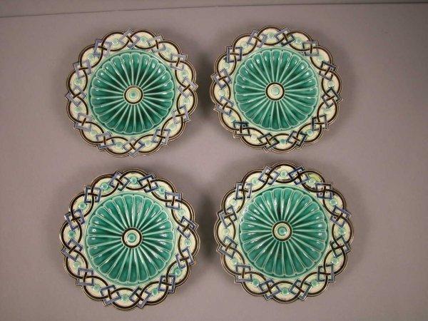 2: Set of 4 Rorstrand geometric plates, nice design, 8