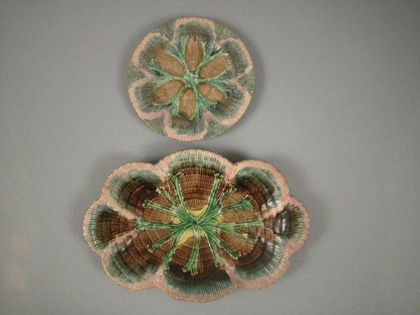 5: ETRUSCAN shell and seaweed platter (rim repair) and