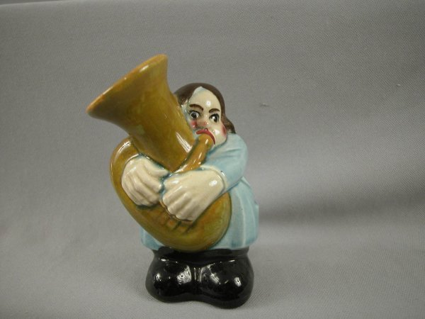 503: SARREGUEMINES figural ceramic bank in the form of