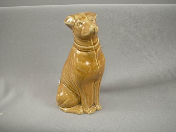 515: French ceramic still bank in the form of a dog, 6