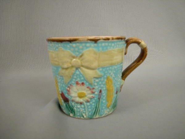 14: Majolica Fielding Daisy Shaving Mug