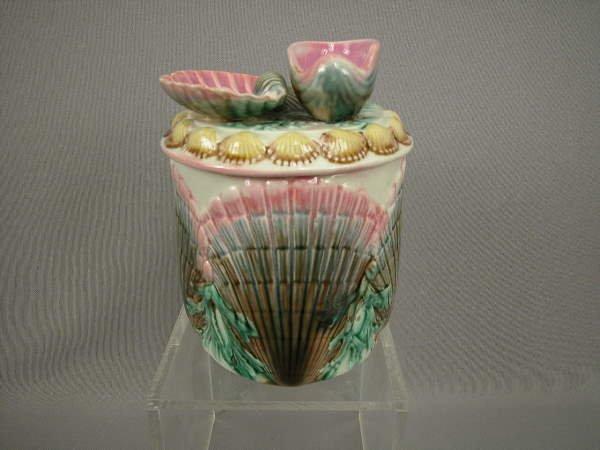 145: Majolica Etruscan Shell & Seaweed Humidor
