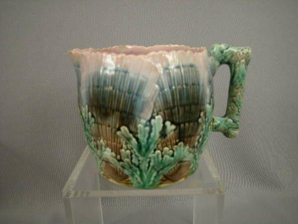 Majolica Etruscan Shell & Seaweed Cream Pitcher