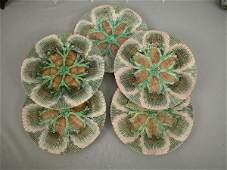 163 Majolica Etruscan Shell  Seaweed Plates