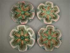 164 Majolica Etruscan Shell  Seaweed Plates