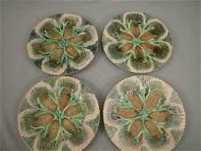 165 Majolica Etruscan Shell  Seaweed Plates