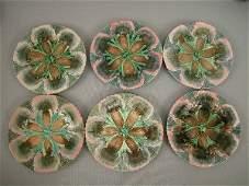 167 Majolica Etruscan Shell  Seaweed Plates