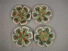 168 Majolica Etruscan Shell  Seaweed Plates