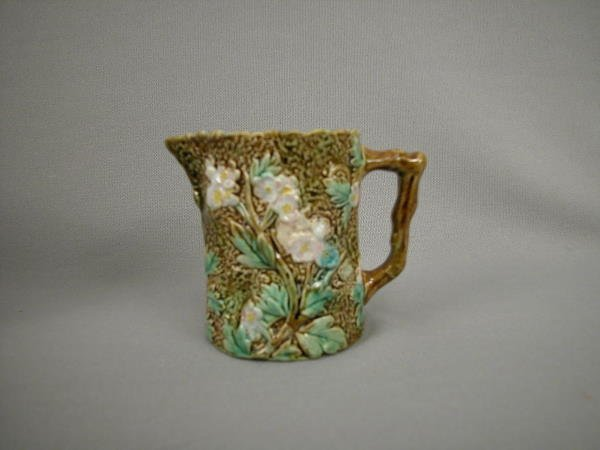 307: Majolica George Jones Floral Creamer