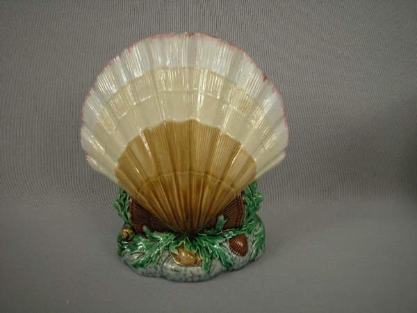 317: Majolica Minton Figural Shell Flower Holder