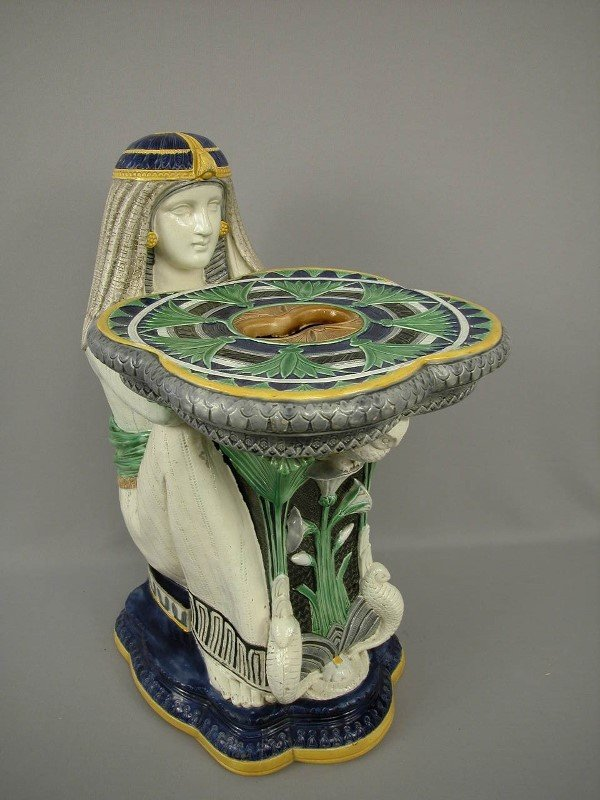 443: Majolica Moore & Co Egyptian Garden Seat