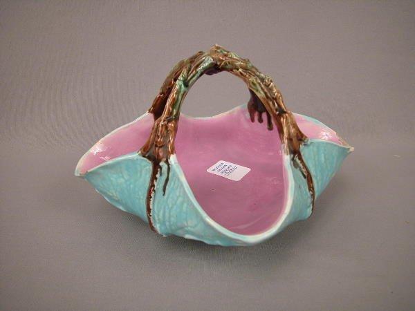 1: Majolica Holdcroft Cabbage Leaf Basket