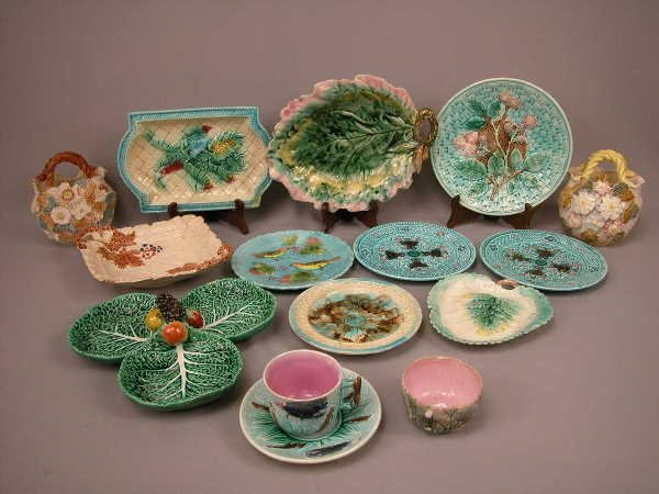 3: Majolica Lot of Various Pieces