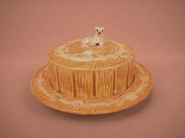 8: Majolica Butter Dish