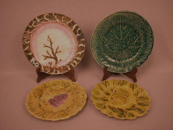 17: Majolica Lot of 4 Plates