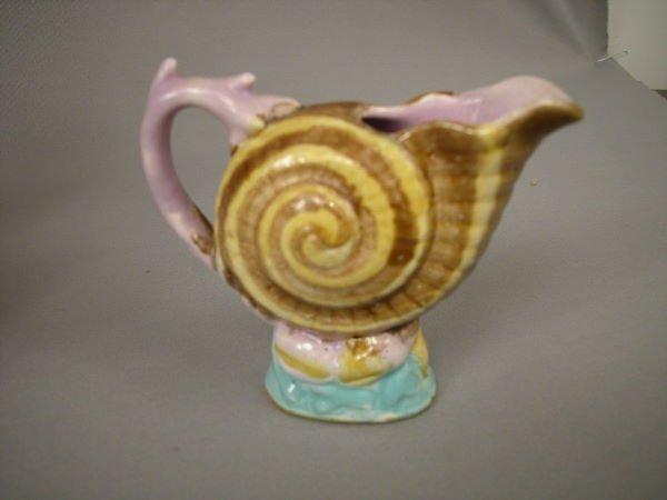 402: Majolica Shell & Coral Creamer