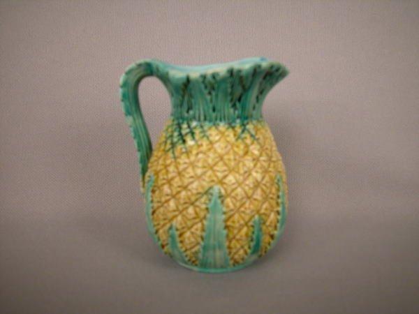 411: Majolica George Jones Pineapple Creamer