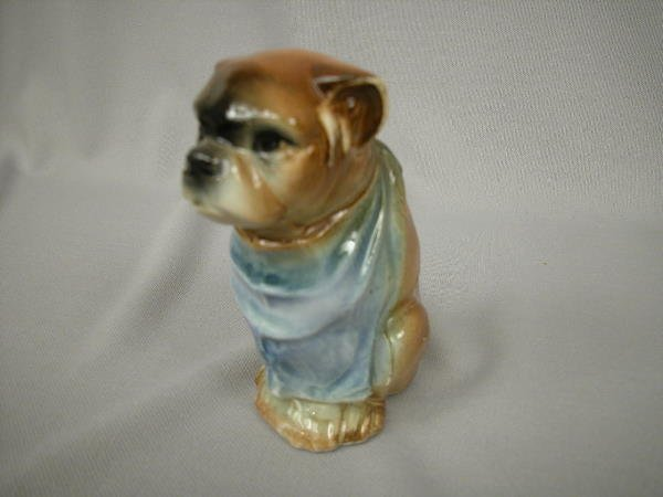 420: Majolica Austrian Figural Dog Bank