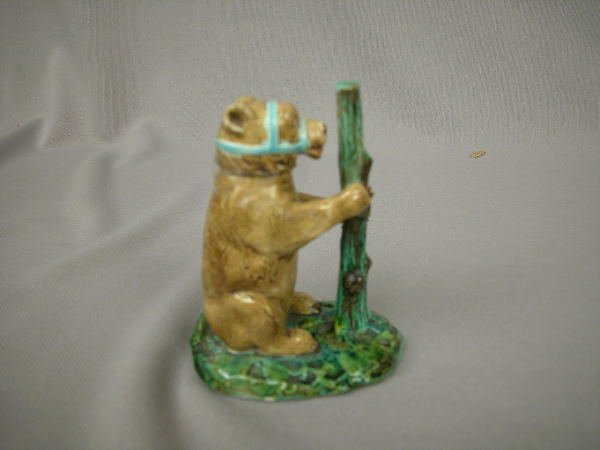 421: Majolica royal Worcester Figural Watch Stand