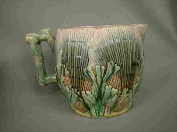 Majolica Etruscan Shell & Seaweed Pitcher