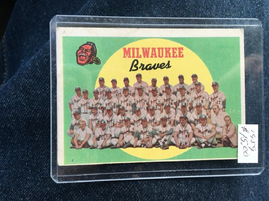 Milawaukee Braves Vintage card