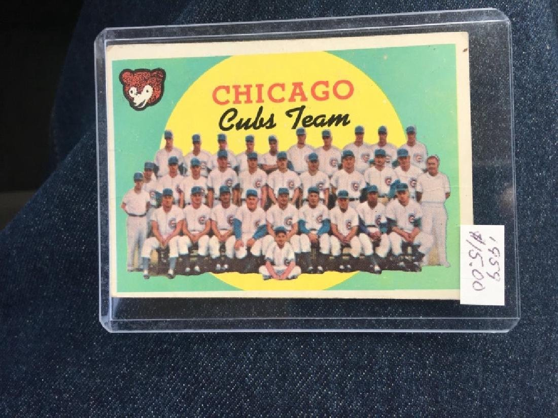 Chicago Cubs Team Card 1958