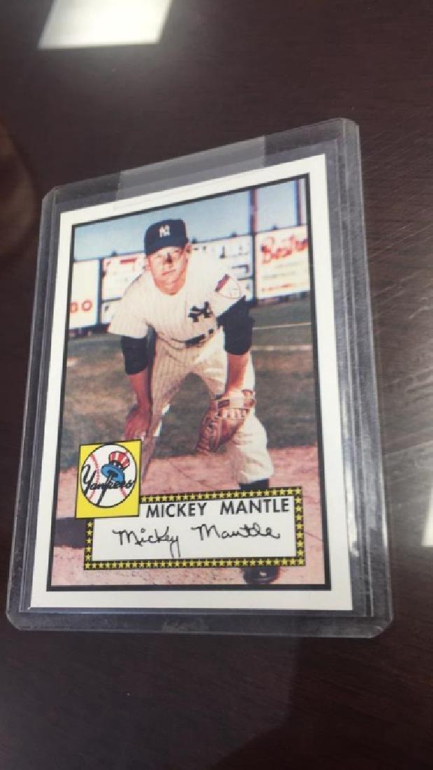 Mickey Mantle tops baseball card