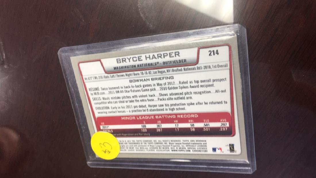 Bryce harper rookie card Bowman chrome - 2