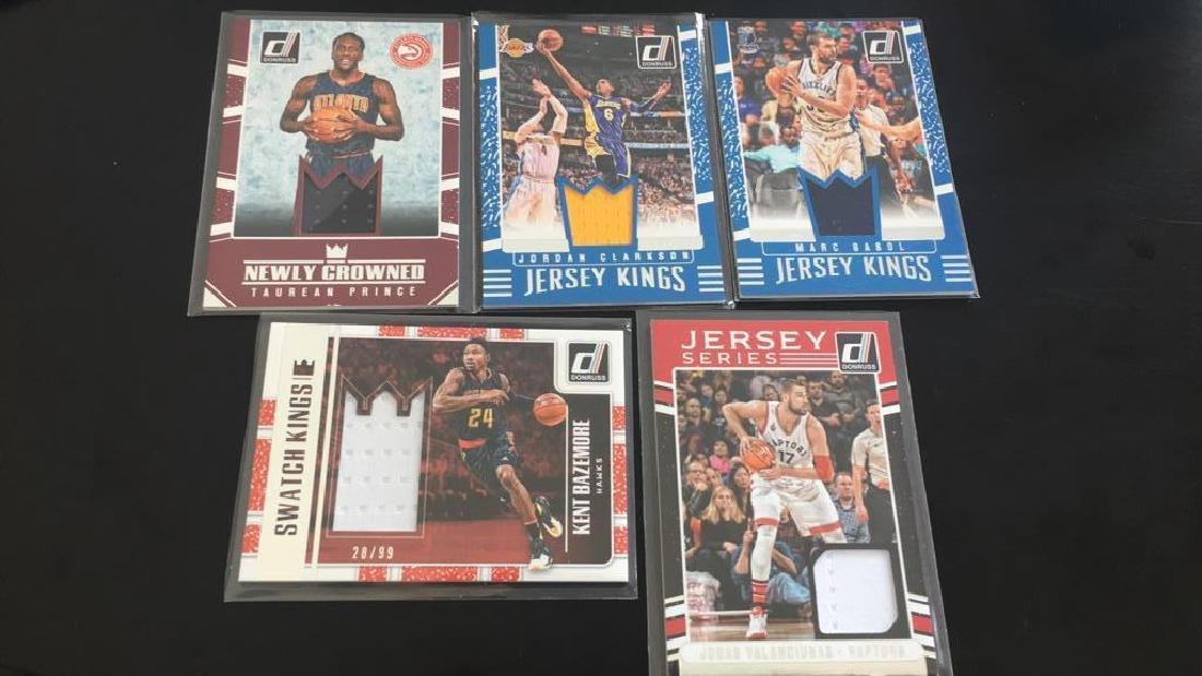 2016 17 Donruss basketball jersey card lot