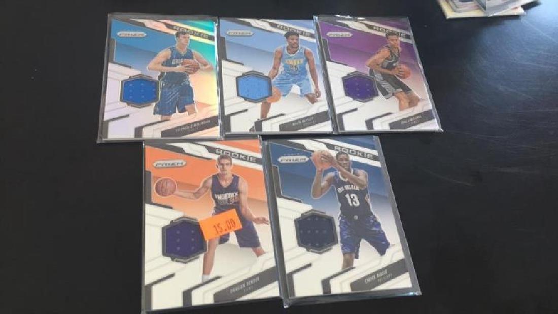 2016-17 prizm basketball jersey card rookie lot