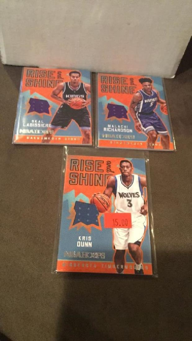 2016-17 NBA Hoops rise and Shine lot of 3 jersey