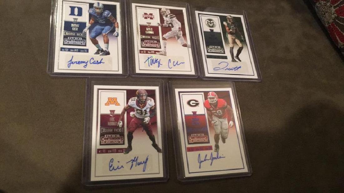 2016 contenders football rookie autograph lot