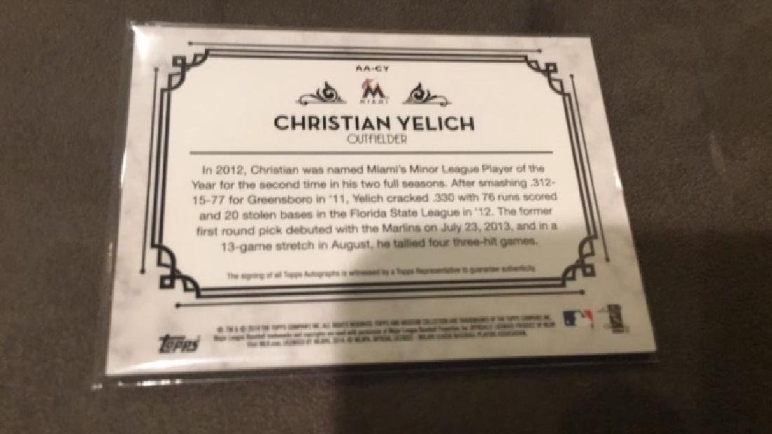 Christian Yelich 2014 museum collection autograph - 2